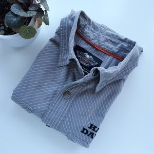 Harley-Davidson Short Sleeve Gray Shirt Size M